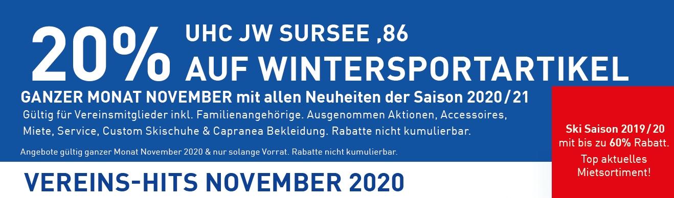Wintersport-Aktion/Rabatte bei Huwyler Sport